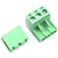 3Pin Stecker rechten Winkel 5,08mm Buchse Schraube Paar Set grün PCB CNC