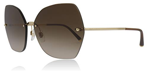 Dolce & Gabbana Sonnenbrillen Lucia DG 2204 Gold/Brown Shaded Damenbrillen