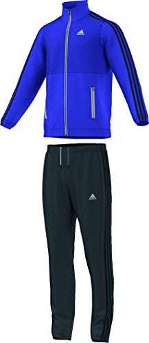 adidas Herren Trainingsanzug Tracksuit Train Knit, Night Flash S15/Black/White, 9, S22108 (Mesh Adidas Pants Knit)