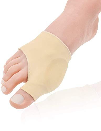 Coppia di fasce per piedi in gel per borsite e alluce valgo correzione alluce valgo stecche, traspirante piede manica con elastico in silicone gel interno, aiuta a ridurre il dolore al piede