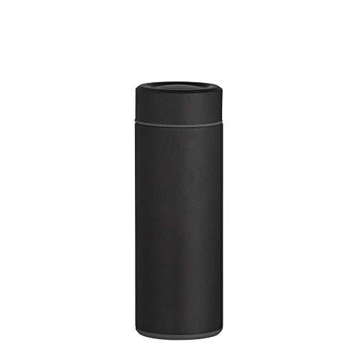 WENSISTAR Senator Isolierflasche,Edelstahlvakuumflasche, Geschäftsauto-Wasserglas, tragbare Wasserflasche im Freien @ Black_330ml,Vakuum-Isolierte Thermoflasche mit Becher