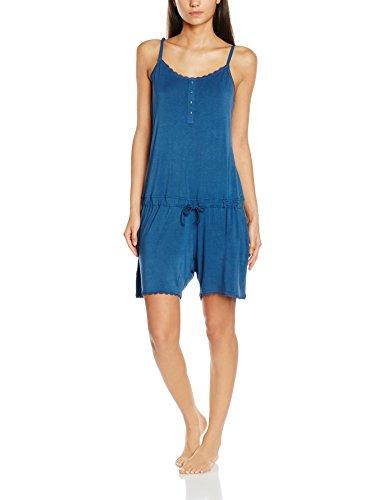 Intimuse Damen Jumpsuit Schlafanzug, Blau (Blau 003), X-Large