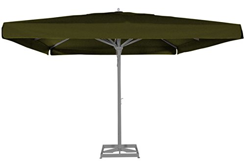 Parasol centré Maestro Prestige Taupe anti-UV carré 400x400cm