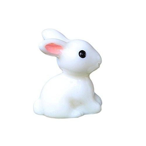 ent, niedliches Kaninchen, Kunstharz, Handwerk Miniatur-Bonsai-Pflanzen, Landschaft, Fee, Garten, Dekoration, 2 Stück, Siehe Abbildung, small Ears Bunny ()