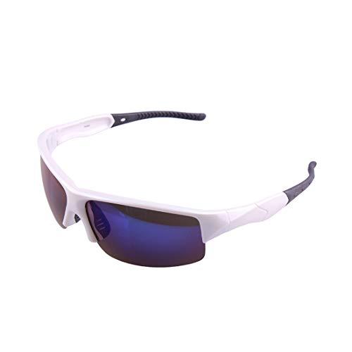Retro Vintage Sonnenbrille, für Frauen und Männer Langlebig hochwertige pc Rahmen Unisex uv-Schutz Sport Sonnenbrille polarisierte linse Radfahren Baseball Laufen Angeln Golf Klettern (Farbe : A002)