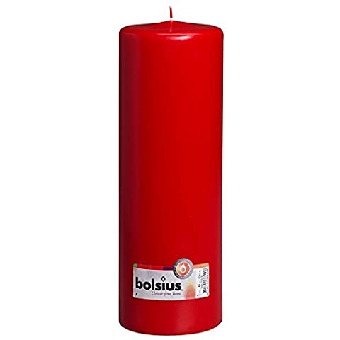 Bolsius 300x100mm Pillar candle in Red by Bolsius