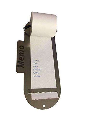 Memotafel aus Edelstahl Einkaufszettel Notizrolle Memorolle Notizzettel