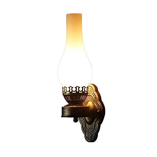 Einfach Kreativ Wandleuchte Vintage Antik Nostalgie innen Design Wandlampe Rund Weiß Glas...