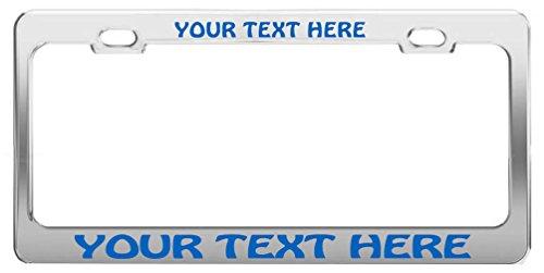 custom-personalizada-cromo-metal-licencia-plate-frame-escritura-azul-hobo
