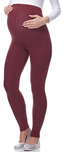 Be Mammy Lange Umstandsleggings BE-02 (Burgund, M)