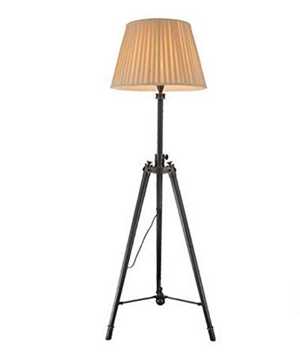Modernes kreatives Metalltuch Justierbares Stativ LED Stehleuchte Wohnzimmer Schlafzimmer Büro-Studio-Landhaus Hotel-Galerie-Leselampe , black