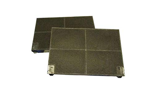 Küppersbusch 505427 ORIGINAL Kohlefilter Aktivkohlefilter Filter Geruchsfilter eckig 225x150mm 2 Stück Dunstabzugshaube auch Zubehör 551 / EDIP638.0E / EDIP638.0W / EDIP638.1E