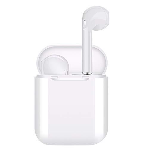 ZZLYY Bluetooth Headset, Kabelloses Headset Beidseitiger Anruf, Bluetooth Headset 5.0 In-Ear-Kopfhörer Stereo In-Ear-Mikrofon Integrierte Freisprech-Kopfhörer Für Apple Airpods Android/iPhone (Weiß)