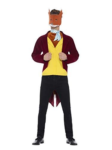 Fox Kostüm Fantastisch - Fancy Dress Four Less Roald Dahl Kostüm für Erwachsene, Weltbuch-Tag, Kostümparty, wählen Sie Ihre Charaktere, helfen Sie Kinder-Wohltätigkeitsorganisation, Fantastisches Mr Fox Kostüm 42851, Größe M