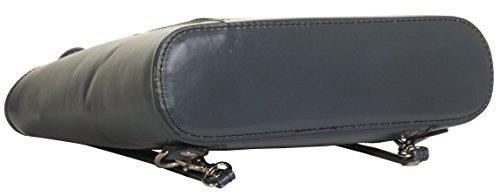 In pelle italiana, borsetta, borsa o zaino.Versioni di medie e grandi dimensioni.Include una custodia protettiva marca. Grigio scuro medio