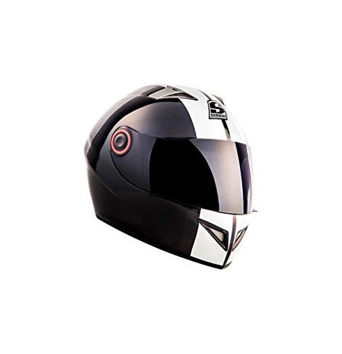 SOXON ST-666 Deluxe Snow · Urban Sport Scooter-Helm Roller-Helm Sturz-Helm Integral-Helm Cruiser Motorrad-Helm Helmet · ECE zertifiziert · inkl. Sonnenvisier · inkl. Stofftragetasche · Schwarz · M (57-58cm)