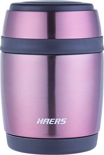 Mosaic Stainless Steel Leak Proof Double Wall BPA-free 380 ml Food Jar (Pink)