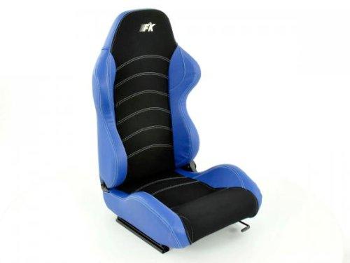 Sportsitz Set Vancouver schwarz/blau mit Laufschienen