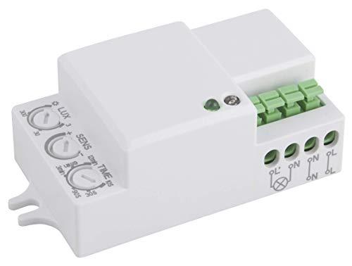 "HF / Mikrowellen-Bewegungsmelder McShine \""LX-701C\"", 360°, 230V / 1.200W, weiß, LED geeignet"