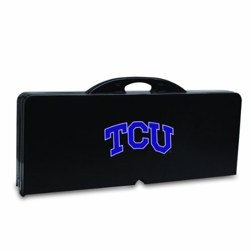 ncaa-texas-christian-horned-frogs-portable-folding-picnic-table-with-seating-for-four-by-picnic-time