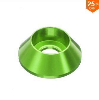 EsportsMJJ M3An6 10St M3 Cup Kopf Sechskantschraube Dichtung Unterlegscheibe Muttern Aluminiumlegierung Multicolor - Grün -