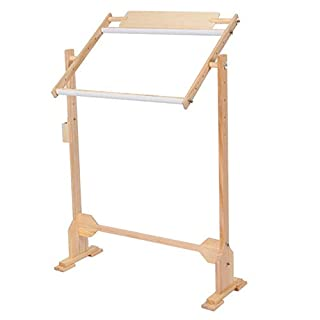 Wooden Cross Stitch Floor Stand,31 inch Adjustable Embroidery Frame Wood Cross Stitch Rack Quilting Frames Tool Kit