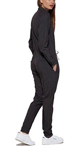 OnePiece Damen Jumpsuit Silver, Schwarz (Charcoal), 38 (Herstellergröße: M) - 2