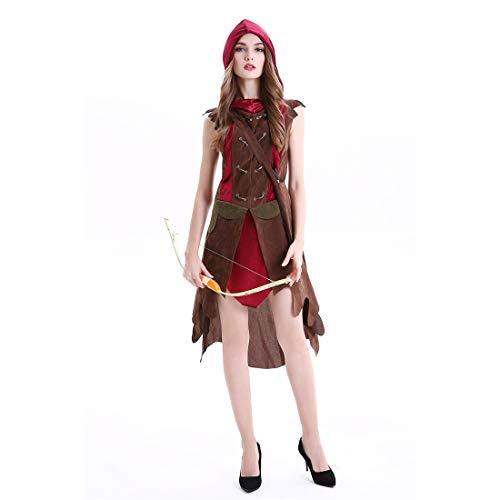 HOOLAZA Frauen Rollenspiele Peter Pan Robin Hood Kostüm Cosplay Kleid 2 Stücke (Robin Kostüme Frauen)