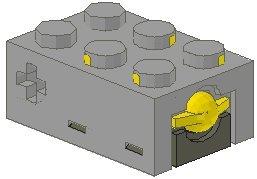 LEGO TECHNIC - ELECTRIC TOUCH SENSOR MIT 3x2 NOPPEN - TECHNIK MINDSTORMS 879 im neuen hellgrau (Technic Electric Lego)