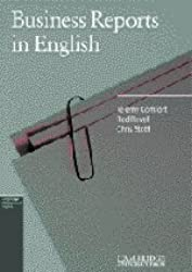 Business Reports in English (Cambridge Professional English) by Jeremy Comfort (1985-01-17)