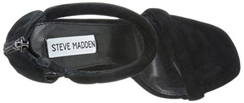 Steve Madden Fancci Suede, Chaussures à Talons avec Bride à La Cheville Femme Noir