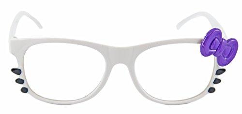 Nick and Ben Nerd-Brille weiß multicolor ohneSehstärkeca. 15 cm breit Damen Panto-Brille...