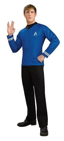Star Trek Movie Costume, Mens Spock Blue Costume Top, Style