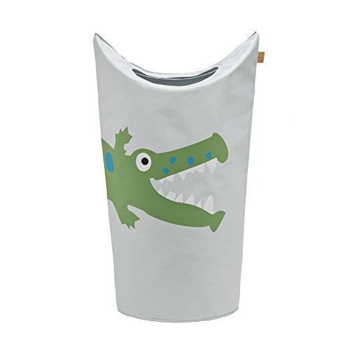 Lässig Laundry or Toy Bag Wäsche- oder Spielzeugkorb für Kinderzimmer, Crocodile granny