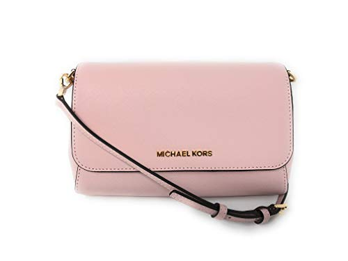 Michael Kors Jet Set Travel Saffiano Leather Small Crossbody Bag Purse Handbag Iphone Smart Phone Holder Case, Damson