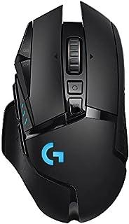 Logitech G502 LIGHTSPEED Wireless Gaming Mouse, HERO 16K Sensor, 16,000 DPI, RGB, Adjustable Weights, 11 Progr