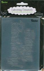 Darice 1216-50  Prägeschablone, Happy Birthday, Plastik, transparent, 10,8 x 14,6 x 0,4 cm Sizzix-stanzformen Für Die Big Shot Pro