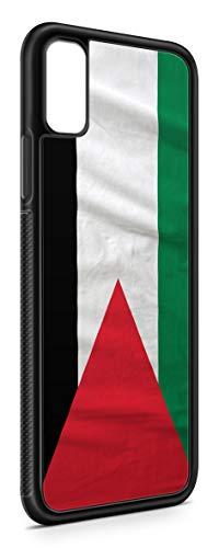 Geeignet für Samsung Galaxy A7 2018 Silikon Handyhülle Flexibles Slim Case Cover Palästina Palestine Fahne Flagge Schwarz