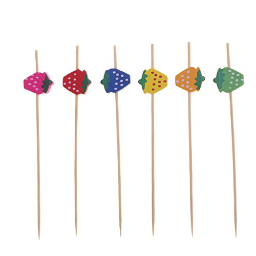 Cocktail Picks Einweg Martini Kuchen Obst Sticks Bunte Zahnstocher für Bar Hawaii Party Decor ()