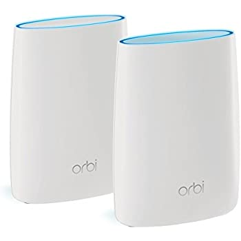 NETGEAR RBK50 Orbi Whole Home Wi-Fi Mesh System Up to 4000 sq ft of Wi-Fi Coverage, Works with Amazon Alexa (11AC 3.0 Gbps Tri Band Home Network with Router and Satellite)
