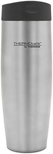 Thermos ThermoCafé Push Button Travel Tumbler, Edelstahl, 420ml -
