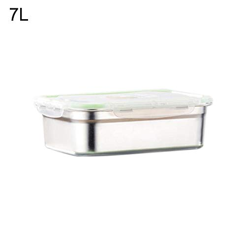 CAheadY 3/4/7/10 / 12L Auslaufsicherer Edelstahl-Bento-Box-Rechteck-Lunch-Container Silver 7L (Rosa Lego-lunch-box)