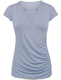 Camiseta para Amamantar T-Shirt para Lactancia Camiseta de Mujer para Maternidad