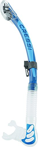 Cressi ALPHA ULTRA DRY, Diving and Snorkeling Silicone Dry Snorkel - 100% made in Italy