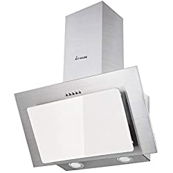 Campana extractora campana 60 cm Iluminación LED acero inoxidable, blanco Diseño KKT KOLBE