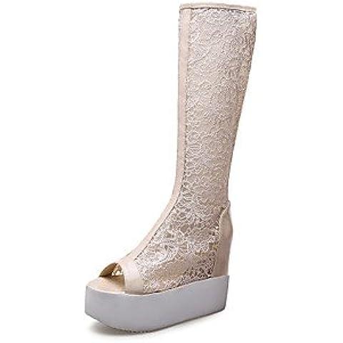 Ei&iLI Zapatos de mujer - Plataforma - Cuñas / Punta Abierta / Plataforma / Punta Redonda - Sandalias / Botas -Exterior / Oficina y Trabajo / , white , us5.5 / eu36 / uk3.5 / cn35