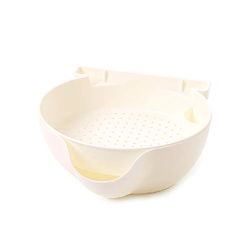 Beito Double Layer Snack Fruit Bowl White mit Telefon Holder Plastic Candy Dish Plate Detachable Fruit Nut Box Candy Dish Holder
