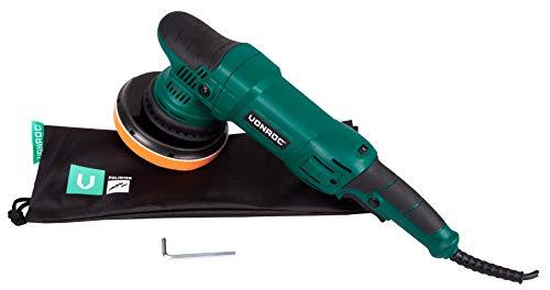 VONROC Dual Action/Exzentrische Poliermaschine/Poliermaschinen-Kit - Konstant-Elektronik - Soft Start - 150 mm - 1050 W - einschließlich Stützscheibe, Pad und Tasche