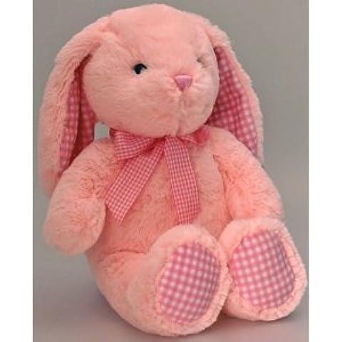 Keel Toys–Nursery percalle Coniglio Rosa 25cm