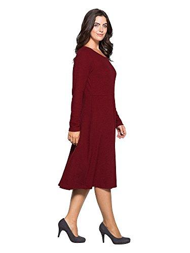 sheego Style Femmes Robe détente Grandes tailles Bordeaux